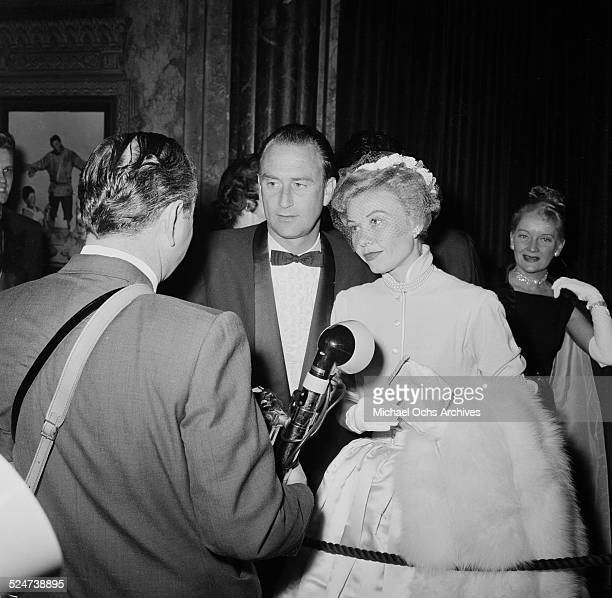 Actress VeraEllen and husband Victor Rothschild attend a movie premiere in Los AngelesCA