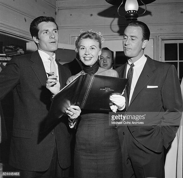 Actress VeraEllen and husband Victor Rothschild attend Thalians party at Debbie Reynolds and Eddie Fishers house in Los AngelesCA