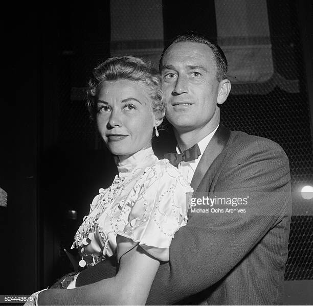 Actress VeraEllen with Victor Rothschild attend an event at Mocambo's in Los AngelesCA