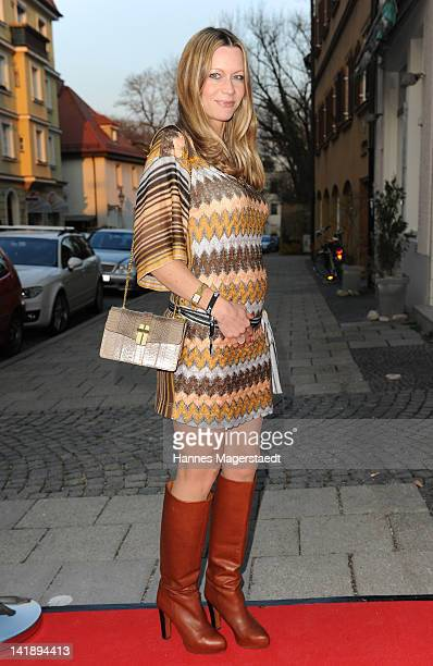 Actress Verena Klein attends the 'Romanzo Criminale' preview screening of payTVchannel SKY at the Trattoria Seerose on March 25 2012 in Munich Germany