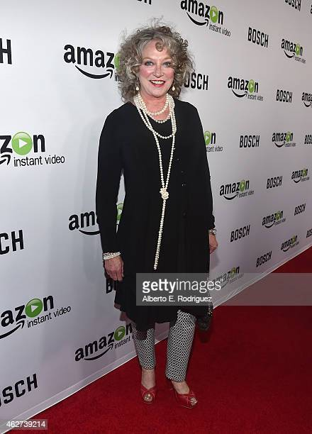 Actress Veronica Cartwright arrives for the red carpet premiere screening for Amazon's first original drama series 'Bosch' at The Dome at Arclight...