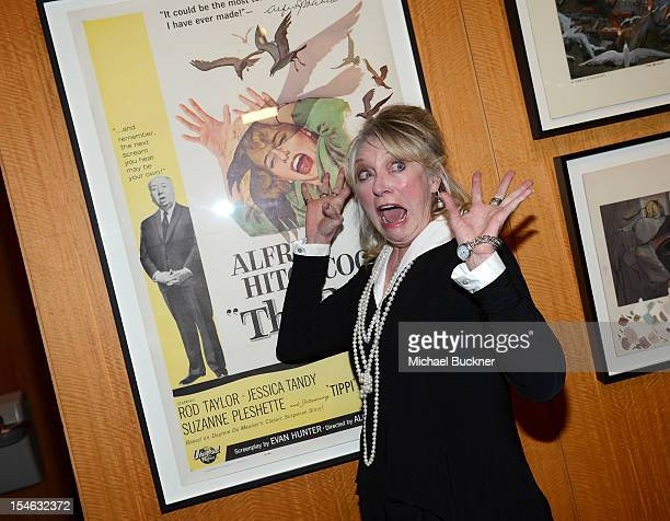 Actress Veronica Cartwright attends the Acadmy of Motion Pictures Arts and Sciences' Screening of The Birds at AMPAS Samuel Goldwyn Theater on...