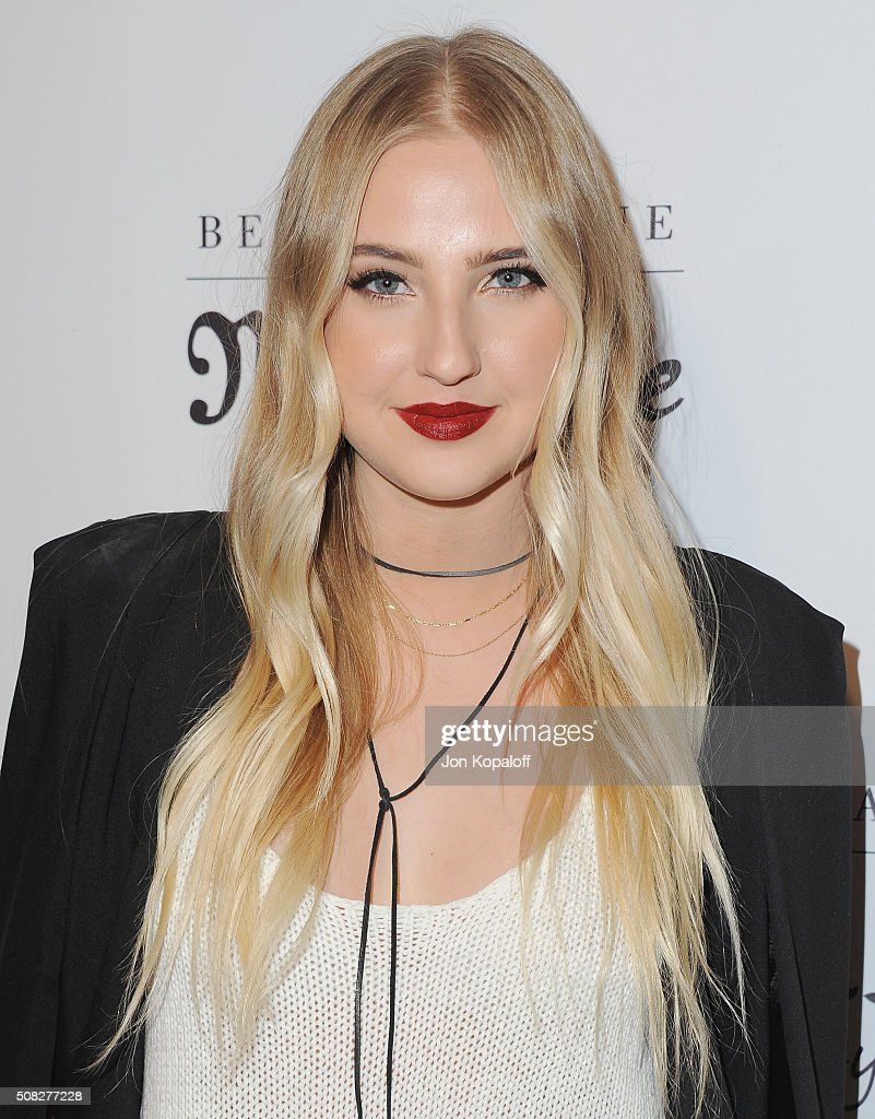 Actress Veronica Dunne arrives at Bella Thorne Hosts Miss Me And Cosmopolitan's Spring Campaign Launch Event at The Terrace at Sunset Tower on February 3, 2016 in West Hollywood, California.