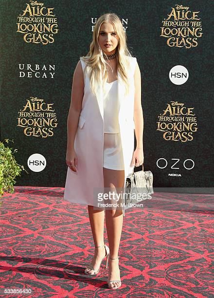 """Actress Veronica Dunne attends the premiere of Disney's """"Alice Through The Looking Glass"""" at the El Capitan Theatre on May 23, 2016 in Hollywood,..."""