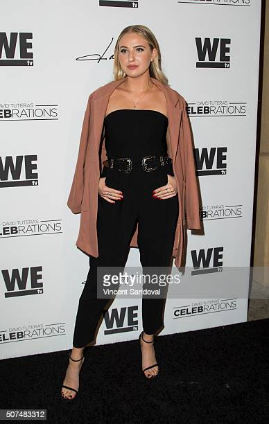 Actress Veronica Dunne attends the Zendaya and Law Roach present Daya by Zendaya shoe collection at Raleigh Studios on January 29 2016 in Los Angeles...