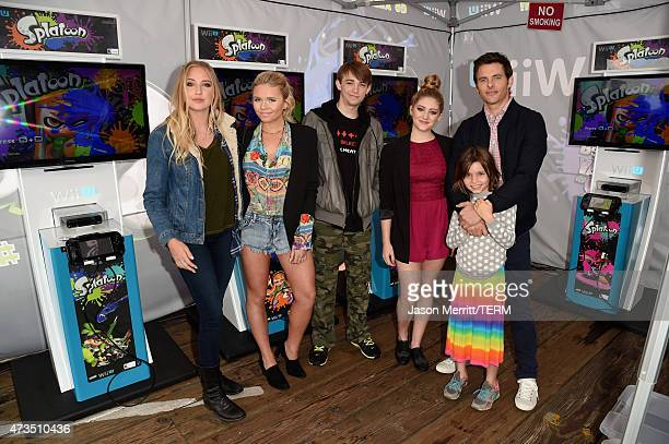 Actress Veronica Dunne singer/model Alli Simpson actors Dylan Riley Snyder Willow Shields James Marsden and his daughter Mary attend Celebrity...