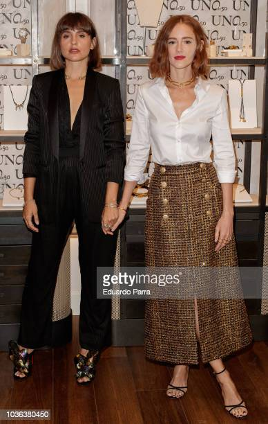 Actress Veronica Echegui and actress Ana Polvorosa attend the 'UNOde50' photocall at UNOde50 store on September 20 2018 in Madrid Spain