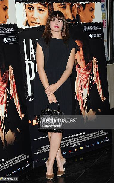Actress Veronica Echegui arrives at 'La Casa de Mi Padre' premiere held at Palacio de la Musica cinema on March 30 2009 in Madrid Spain