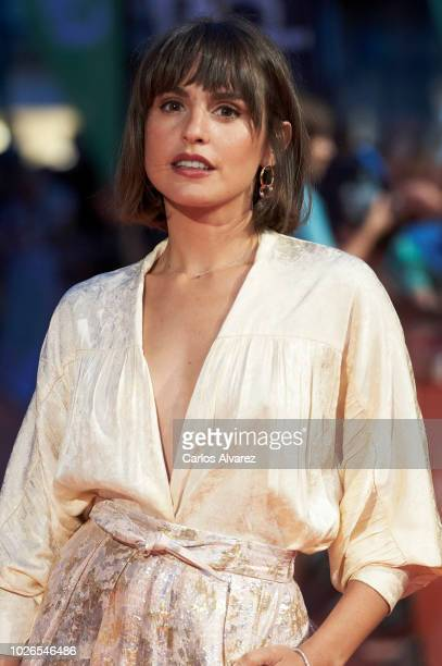 Actress Veronica Echegui attends 'El Continental' premiere at the Principal Teather during the FesTVal 2018 Day 1 on September 3 2018 in...