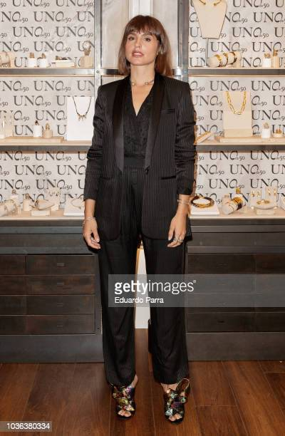Actress Veronica Echegui attends the 'UNOde50' photocall at UNOde50 store on September 20 2018 in Madrid Spain
