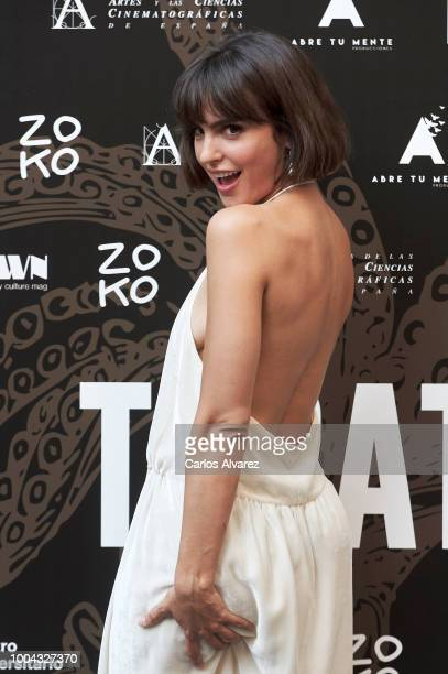Actress Veronica Echegui attends 'Tocate' premiere at Academia de Cine on July 23 2018 in Madrid Spain