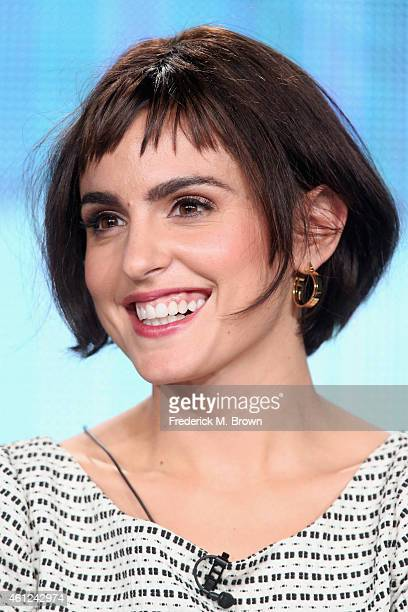Actress Veronica Echegui speaks onstage during the 'Fortitude' panel at the Pivot Network portion of the 2015 Winter Television Critics Association...