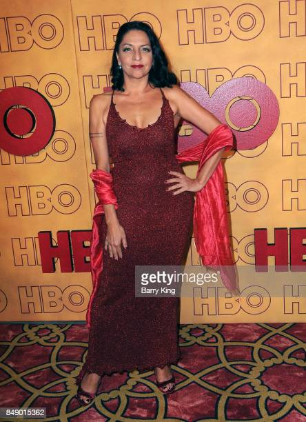 Actress Veronica Falcon Lopez attends HBO's Post Emmy Awards Reception at The Plaza at the Pacific Design Center on September 17, 2017 in Los...