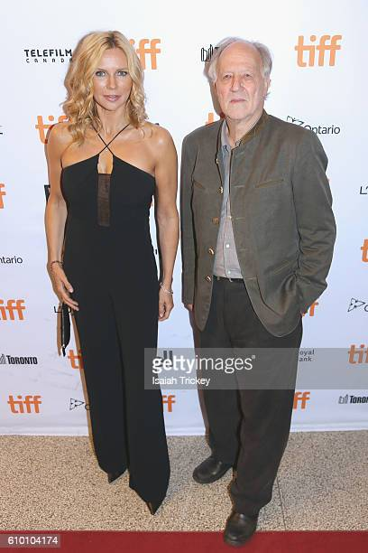 Actress Veronica Ferres and director Werner Herzog attend the 'Salt and Fire' premeire during the 2016 Toronto International Film Festival at The...