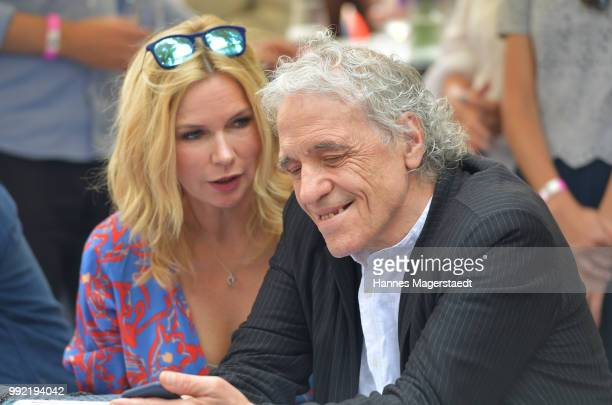 Actress Veronica Ferres and US Filmdirector Abel Ferrara attend the FFF reception during the Munich Film Festival 2018 at Praterinsel on July 5 2018...