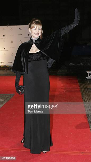 """Actress Veronica Ferres arrives at the """"Cinema For Peace"""" Awards on February 14 2005 in Berlin, Germany."""
