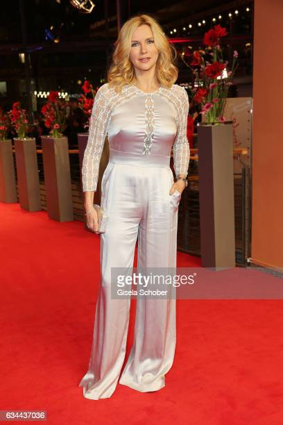 Actress Veronica Ferres attends the 'Django' premiere during the 67th Berlinale International Film Festival Berlin at Berlinale Palace on February 9...