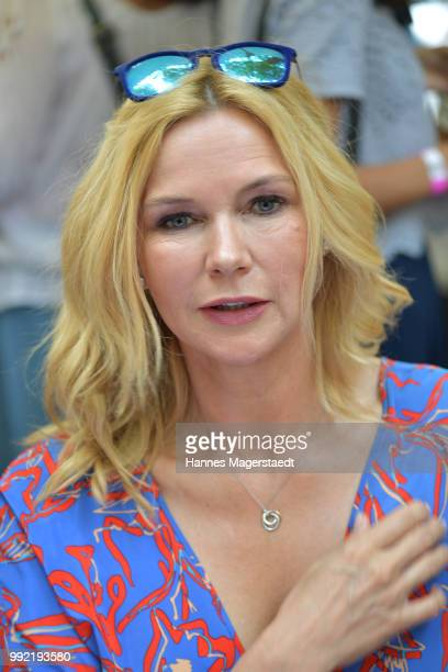 Actress Veronica Ferres attends the FFF reception during the Munich Film Festival 2018 at Praterinsel on July 5 2018 in Munich Germany