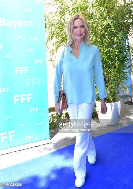 Actress Veronica Ferres attends the Film Fernseh Fonds Bayern 2019 reception during the Munich Film Festival at Praterinsel on July 04 2019 in Munich...