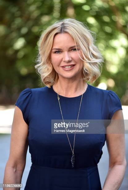 Actress Veronica Ferres attends the Scenario Sommer-Cocktail 2019 during the Munich Film Festival at The Charles Hotel on June 30, 2019 in Munich,...