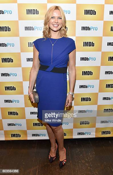 Actress Veronica Ferris attend The IMDb dinner party during The 2016 Toronto International Film Festival at Brassaii on September 12 2016 in Toronto...