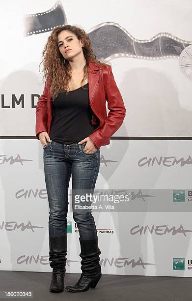 Actress Veronica Gentili attends the 'L'Isola dell'Angelo Caduto' Photocall during the 7th Rome Film Festival at Auditorium Parco Della Musica on...