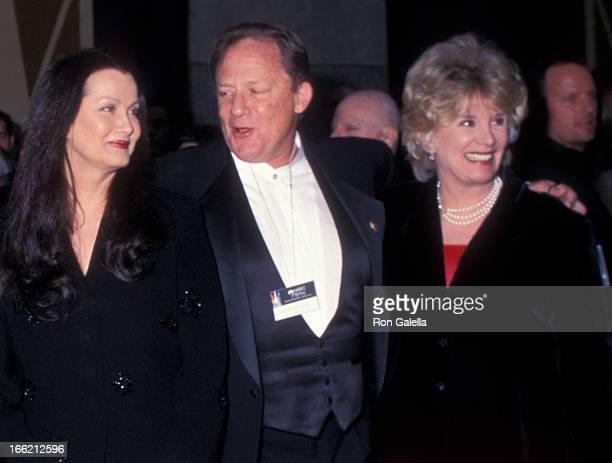 Actress Veronica Hamel actor Charles Haid and actress Barbara Bosson attend NBC's 75th Anniversary Special on May 5 2002 at Rockefeller Center in New...