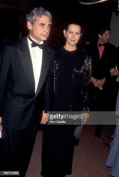 Actress Veronica Hamel and date attend the Gene Autry Western Heritage Museum's Fifth Anniversary Gala on October 28 1993 at the Century Plaza Hotel...