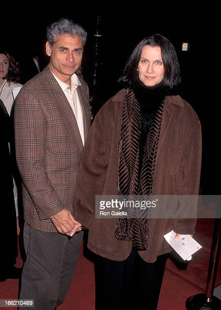 Actress Veronica Hamel and date attend the 'Georgia' Beverly Hills Premiere on November 27 1995 at the Samuel Goldwyn Theatre in Beverly Hills...