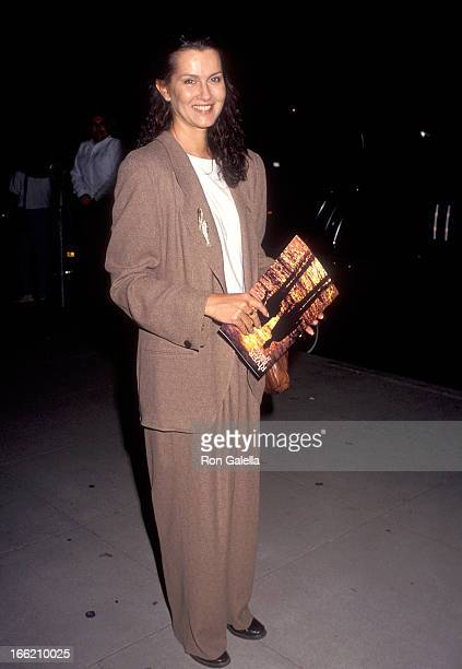 Actress Veronica Hamel attends 'A River Runs Through It' Beverly Hills Premiere on November 1 1992 at the Academy of Motion Picture Arts Sciences in...