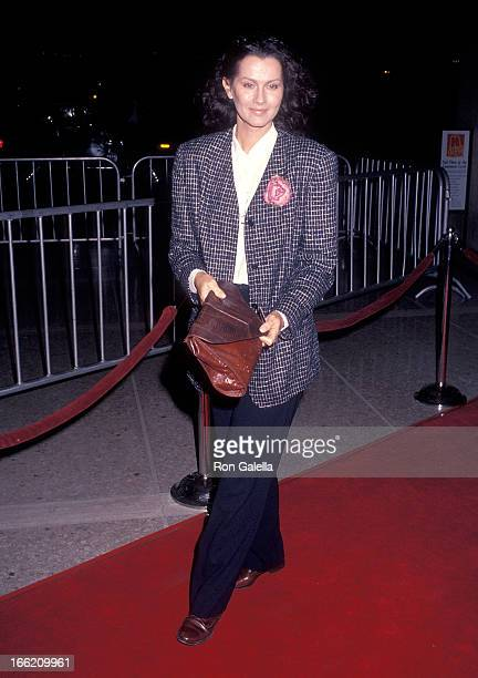 Actress Veronica Hamel attends the 'City of Joy' Century City Premiere on April 7 1992 at the Cineplex Odeon Century Plaza Cinemas in Century City...