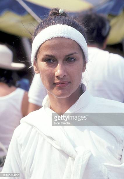 Actress Veronica Hamel attends the Fifth Annual I Love New York ProCelebrity Tennis Tournament to Benefit the Cystic Fibrosis Foundation on August 27...