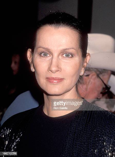 Actress Veronica Hamel attends the Gene Autry Western Heritage Museum's Fifth Anniversary Gala on October 28 1993 at the Century Plaza Hotel in...