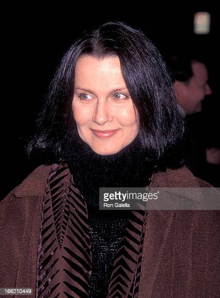 Actress Veronica Hamel attends the 'Georgia' Beverly Hills Premiere on November 27 1995 at the Samuel Goldwyn Theatre in Beverly Hills California