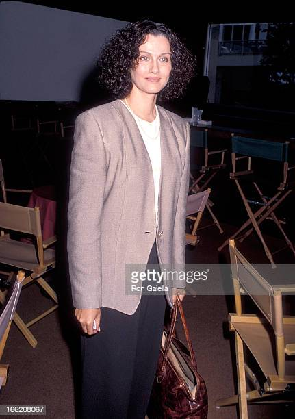 Actress Veronica Hamel attends the NBC Summer TCA Press Tour on July 18 1990 at the Century Plaza Hotel in Century City California