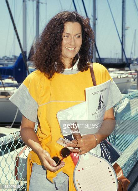 Actress Veronica Hamel attends the Third Annual ProCelebrity Paddle Tennis Tournament to Benefit California Medical Center's Child Abuse Prevention...