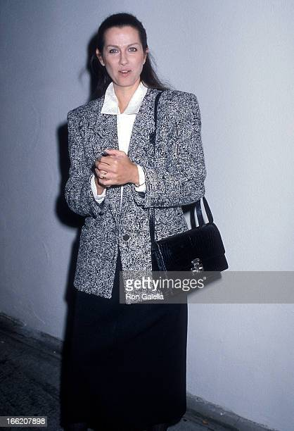 Actress Veronica Hamel on January 2 1987 dines at Spago in West Hollywood California