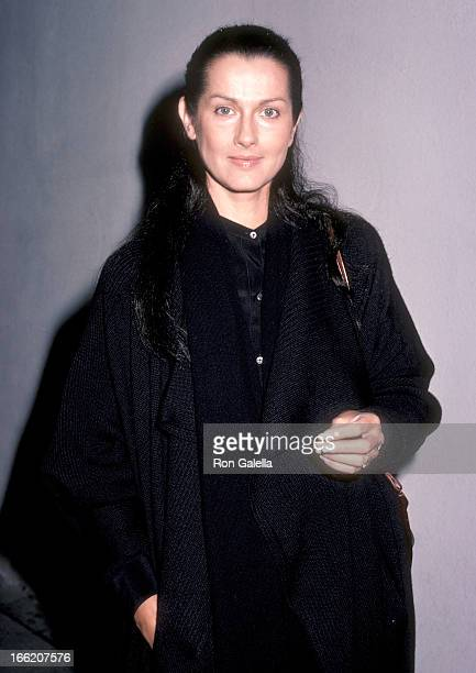 Actress Veronica Hamel on October 31 1985 at Spago in West Hollywood California
