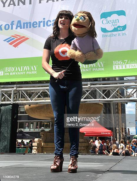 Actress Veronica J Kuehn from Avenue Q attends 1067 Lite FM Presents Broadway In Bryant Park on August 11 2011 in New York City