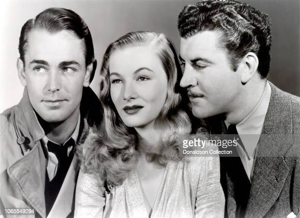 """Actress Veronica Lake, Alan Ladd and Robert Preston in a scene from the movie """"This Gun for Hire"""""""