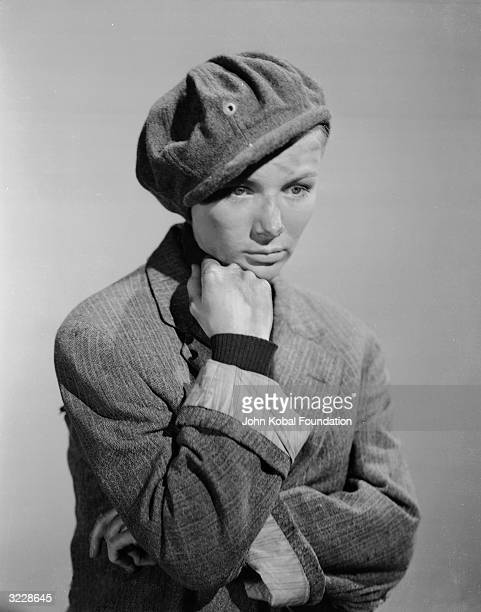 Actress Veronica Lake dressed in an urchin's cap for her role as The Girl in 'Sullivan's Travels' directed by Preston Sturges