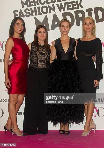 Actress Veronica Moral Esther Noriega actress Maggie Civantos 2 and actress Sara Gomez attend 'Yo Dona' party photocall at Eurobuilding hotel on...
