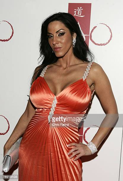 Actress Veronica Rayne arrives at a naughty night to remember at TAO Nightclub at The Venetian Hotel and Casino Resort on January 12 2008 in Las...
