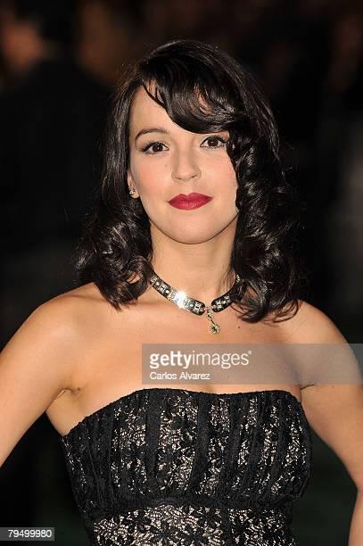 Actress Veronica Sanchez attends 22th Goya Cinema Awards 2008 on January 03 2008 at Palacio Municipal de Congresos in Madrid Spain