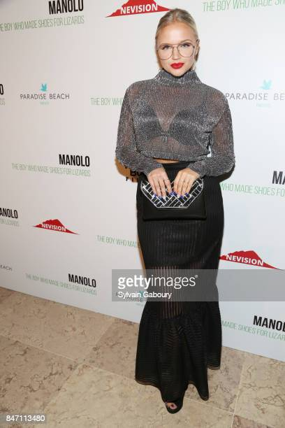 Actress Veronika Dash attends the premiere of 'Manolo The Boy Who Made Shoes for Lizards' hosted by Manolo Blahnik with The Cinema Society on...