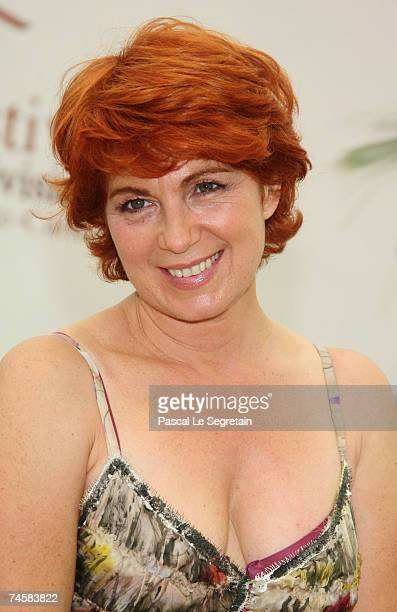 Actress Veronique Genest attends a photocall promoting the television serie 'Julie Lescaut' on the third day of the 2007 Monte Carlo Television...
