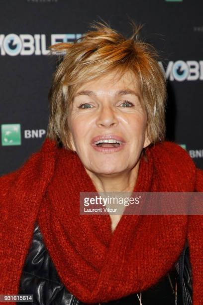 Actress Veronique Jannot attends Mobile Film Festival 2018 at Mk2 Bibliotheque on March 13 2018 in Paris France