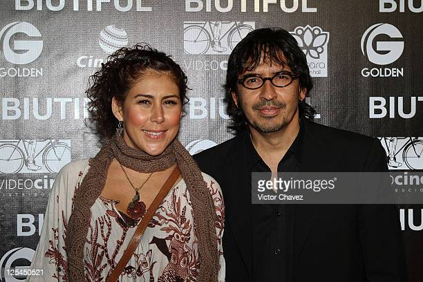 Actress Vica Andrade and Tv producer Guillermo Del Bosque attend the Mexico City Premiere of Biutful at Cinemex Antara Polanco on October 18 2010 in...