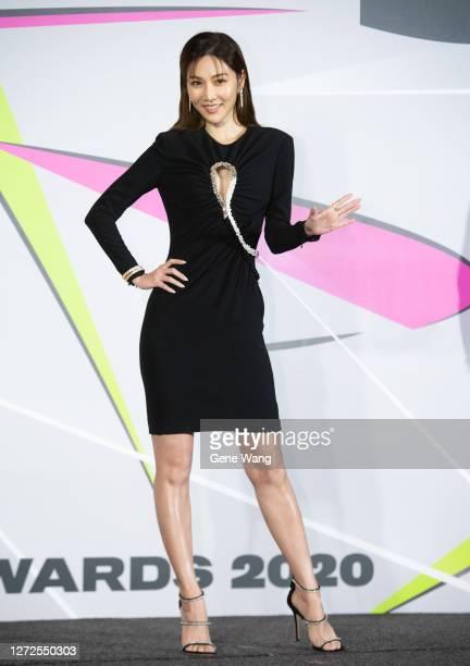 Actress Vickey Tseng(Wan Ting Tseng)poses at 55th Television Golden Bell Awards host media gathering on September 15, 2020 in Taipei, Taiwan.