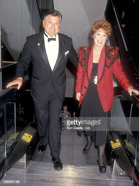 Actress Vicki Lawrence and husband Alvin Schultz attend the 20th Annual Daytime Emmy Awards on May 26 1993 at Marriott Marquis Hotel in New York City...